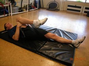 Lying Hamstring Stretch - Start
