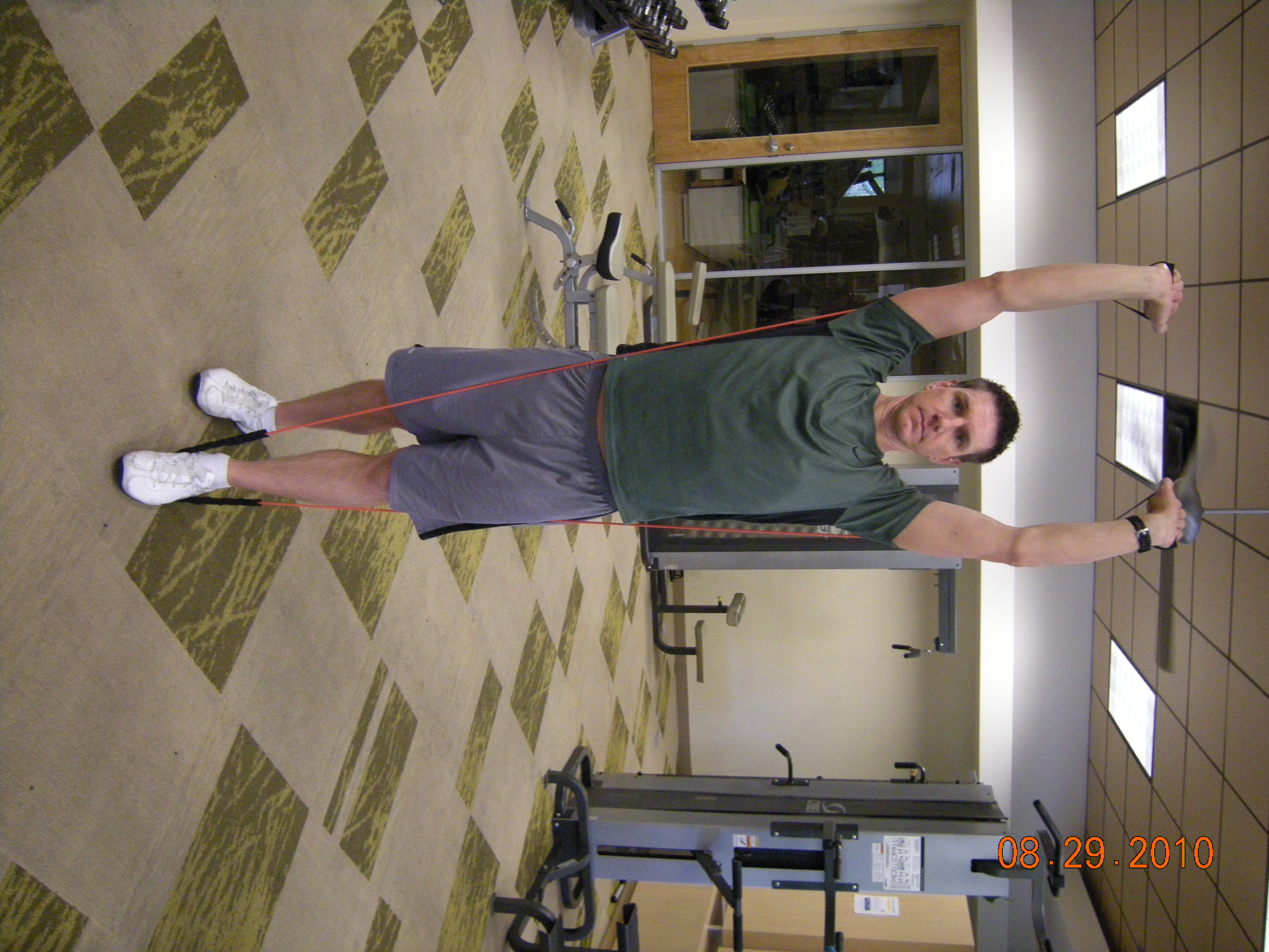 Overhead Press With Resistance Band